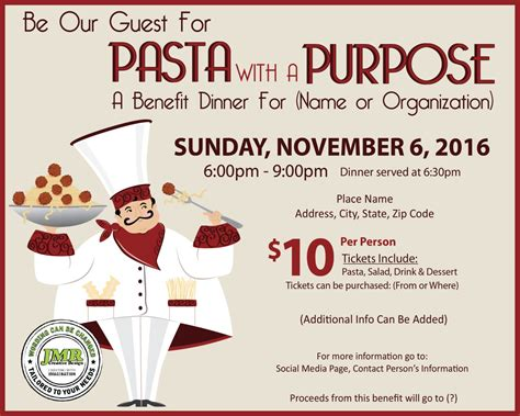 spaghetti dinner sale flyers
