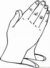 Hands Coloring Hand Praying Colouring Clipart Pages Printable Library Clip sketch template