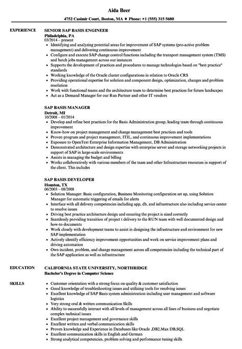 Sap Basis Resume Samples  Velvet Jobs. What Skills Should I List On My Resume. Sample Formal Resume. Resume Personal Interests. Sample Of Engineering Resume. Computer Software Experience Resume. Sql Developer Resume Sample. Staff Accountant Resume Examples Samples. Ways To Make Your Resume Stand Out