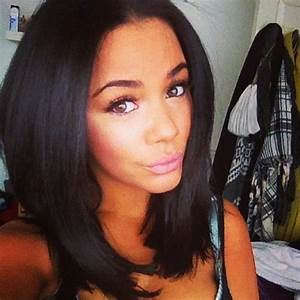 black hair medium length bobs