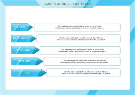 manage by objective template chart exles smart objectives