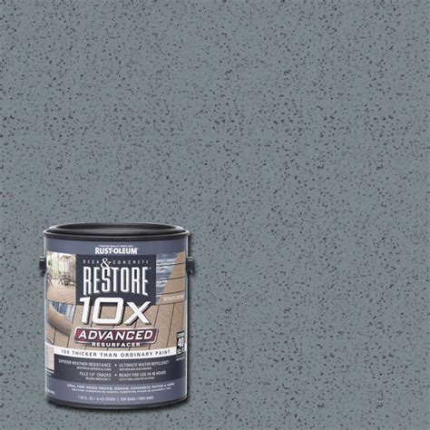 Rust Oleum Decorative Concrete Coating Slate by Rust Oleum Restore 1 Gal 10x Advanced Slate Deck And