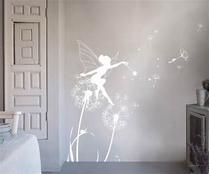 bambizi white wall stickers fairy design flower With white wall decals