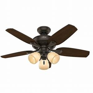 Hunter channing in indoor new bronze ceiling fan with