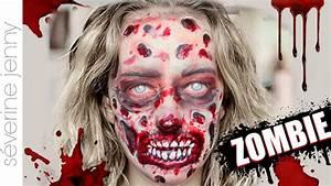 Déguisement Halloween Qui Fait Peur : maquillage halloween zombie gore qui fait peur sans latex youtube ~ Dallasstarsshop.com Idées de Décoration