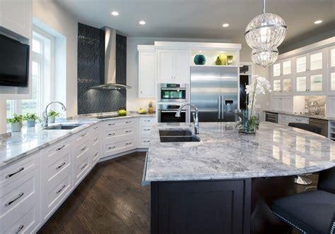 Fantastic White Granite Kitchen Traditional With White