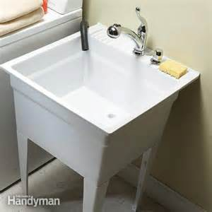 install kitchen faucet with sprayer upgrade your laundry sink the family handyman