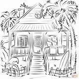 Coloring Pages Beach Printable Drawing Crafts sketch template