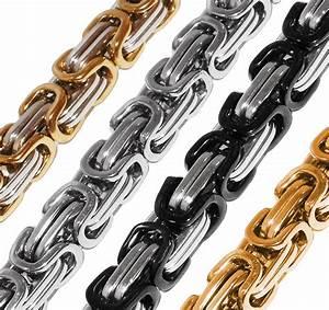 Edelstahl Ketten Meterware : k nigskette halskette armband set panzerkette edelstahl gold silber schwarz edelstahl ketten ~ Eleganceandgraceweddings.com Haus und Dekorationen