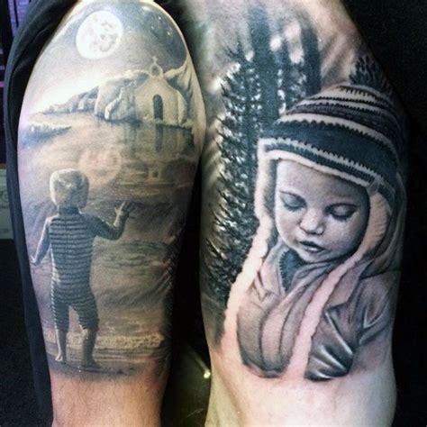black  grey tattoos  men grandeur  gradients