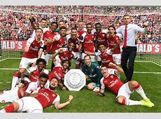 Arsenal v Chelsea Gunners' Community Shield celebrations