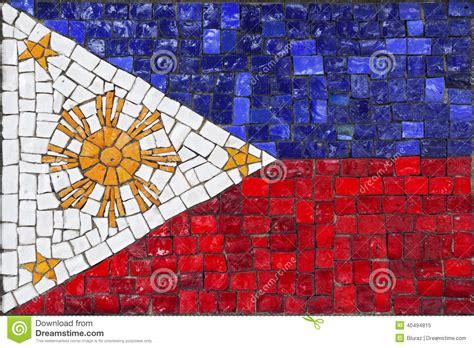 mosaic flag  philippines stock photo image