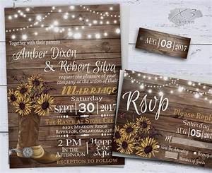 sunflower wedding invitatons rustic wedding invitations With country wedding invitations with pictures