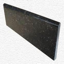 granite edge piece 12x4x3 8 black galaxy bullnose
