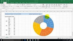 Sunburst Chart In Excel 2016 Hindi
