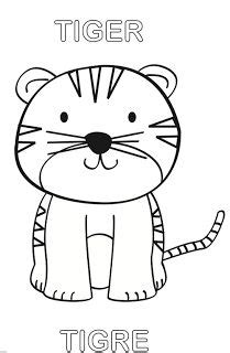 dibujo de tigre  colorear rimas  ninos pinterest dibujo animales  html
