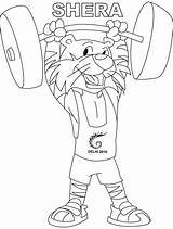 Coloring Pages Weightlifting Shera Comments sketch template