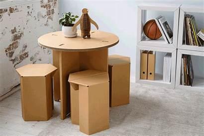 Karton Cardboard Furniture Diy Table Dining Stools