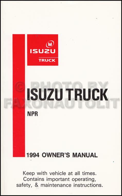 Npr Gas Repair Shop Manual Original