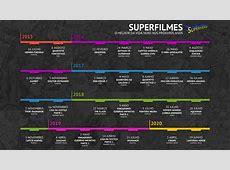 Calendário de Filmes Marvel e DC O Super Nerd