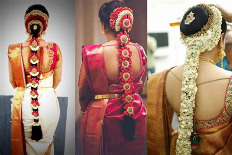 popular south indian bridal floral hairstyles hairstyles