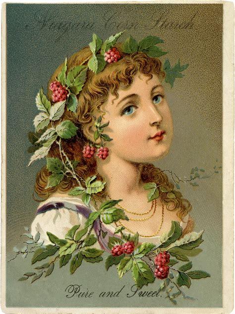 lovely victorian raspberry girl   graphics fairy