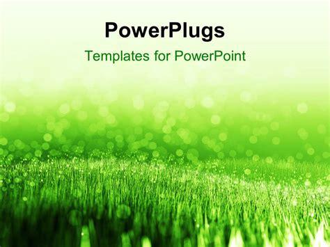 powerpoint template spring background  green summer