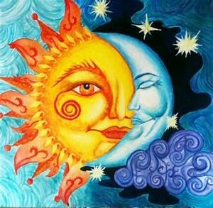 Celestial Sun And Moon Wallpaper