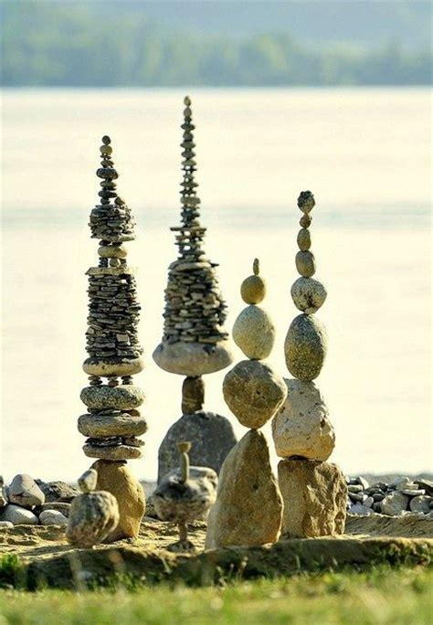 stacked sculpture stone stacking fairy garden pinterest