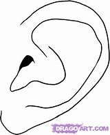 Ear Draw Step Ears Cartoon Human Realistic Coloring Pages Drawing Cartoons Getcoloringpages Dragoart External sketch template