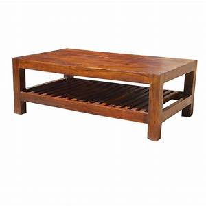 solid wood portland contemporary 2 tier coffee table With solid oak wood coffee tables