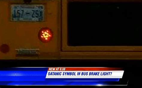 supposedly satanic school bus features pentagram brake