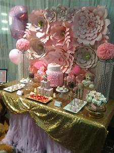 Pretty, Pink, And, Gold, Baby, Shower, -, Baby, Shower, Ideas, -, Themes