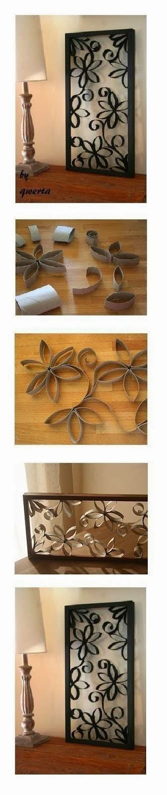 ready     diy toilet paper roll wall decoration