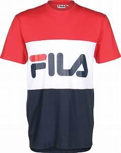 T Shirt Bleu Blanc Rouge : fila day t shirt rouge blanc bleu ~ Nature-et-papiers.com Idées de Décoration
