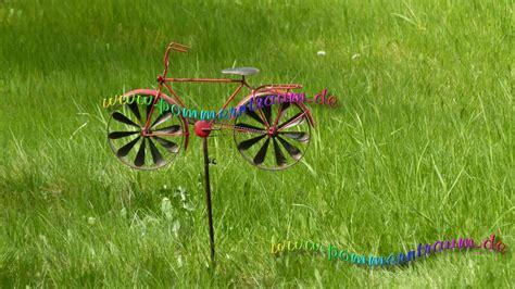 Gartendeko Windspiel by Windspiel Windrad Metall Gartendeko Rotes Fahrrad Herrenrad