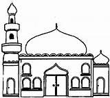 Mosque Coloring Mosquee Cours Enfants Pour Album Buildings Architecture sketch template