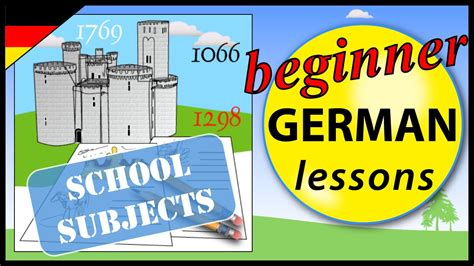 School Subjects In German  Beginner German Lessons For Children Youtube