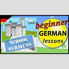 School Subjects In German  Beginner German Lessons For