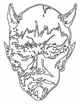Coloring Pages Halloween Devil Drawing Horned Mask Printables Sheets Getdrawings Popular Great sketch template