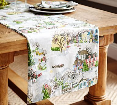 table runner pottery barn winter table runner benefiting give a