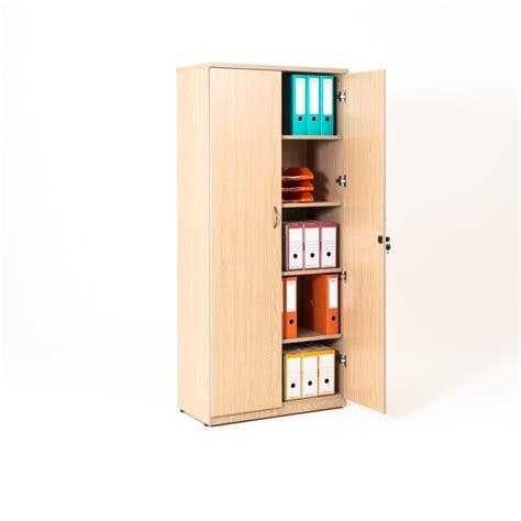 armoire de bureau portes battantes en bois 4 coloris bd