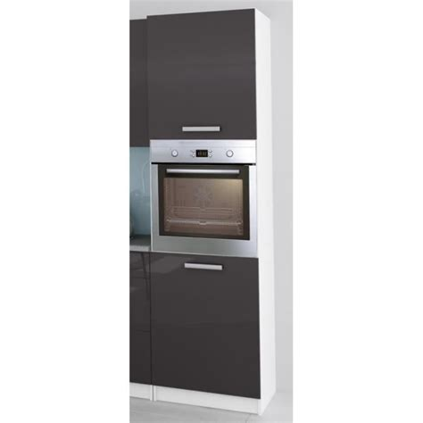 colonne pour cuisine colonne de cuisine pour four encastrable de 60 cm gris