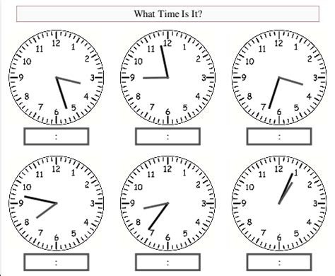 interactive clock resources and worksheets for teaching