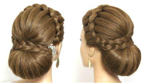 beautiful wedding bun hairstyle  long hair youtube