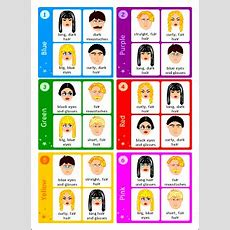 Board Games With Cards For Kids Learning English  Describing People