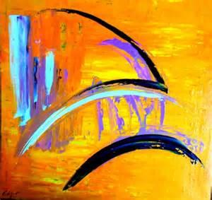 peinture acrylique moderne au couteau images