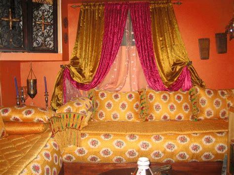 salon benchrif numero  des tissus salon marocain decor