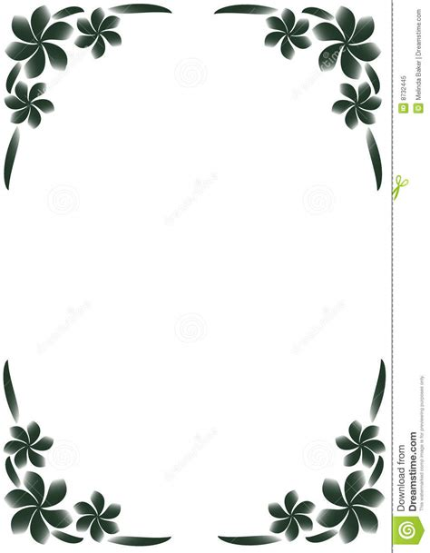 cadre noir et blanc cadre floral noir et blanc photo libre de droits image 8732445