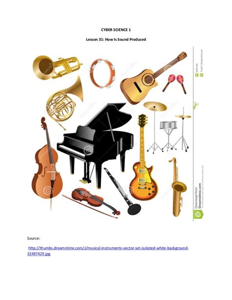 What sorts of things, specifically, could you spend your time working on? Lesson 31 image of musical instruments